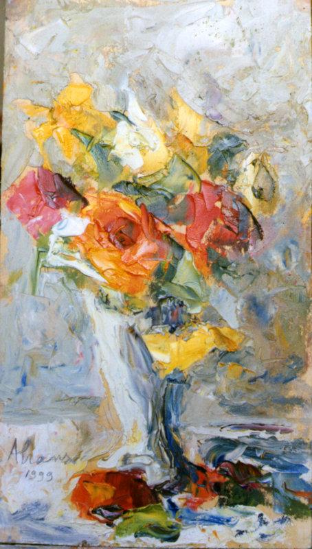 Paolo abrans vaso con fiori concorsi d 39 arte la quadrata for Quadri fiori olio
